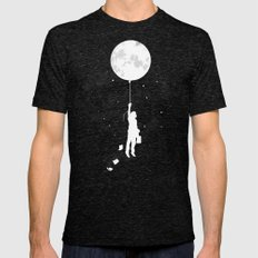 Midnight Traveler Mens Fitted Tee Tri-Black SMALL