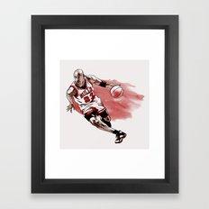 Michael Jordan Framed Art Print