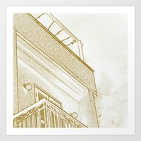 Squarey Art Print