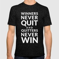 Winners Mens Fitted Tee Tri-Black SMALL