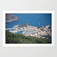 Majorca Mountain View Art Print