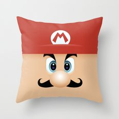 Mario With Cool Mustache Throw Pillow