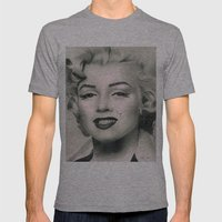 Marilyn Monroe Mens Fitted Tee Athletic Grey SMALL