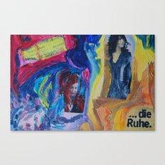 Alarm and Calm (Charlotte Gainsbourgh and Olga Grjasnowa) Canvas Print