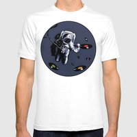 Interstellar Record Hunt Mens Fitted Tee White SMALL
