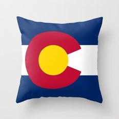 Colorado Flag - High Qua… Throw Pillow