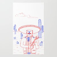 Mariachi in the Desert Rug