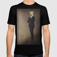 LaMA Mens Fitted Tee Black SMALL