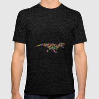 Trexture (colored dots) Mens Fitted Tee Tri-Black SMALL
