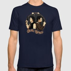 Duel in Space Mens Fitted Tee Navy SMALL