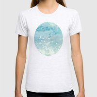 Ocean Palette Womens Fitted Tee Ash Grey SMALL