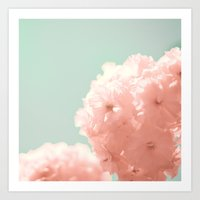 Pink Blossoms, Blue Skie… Art Print