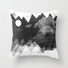 Torn Mounts Throw Pillow