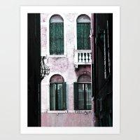 Green Shutters Art Print