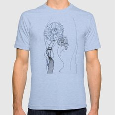 Flower Hair Mens Fitted Tee Athletic Blue SMALL