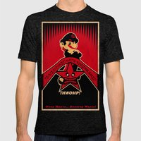 Obey Mario Mens Fitted Tee Tri-Black SMALL