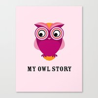 My owl story Canvas Print