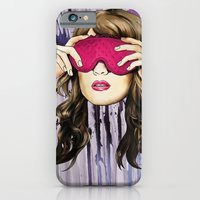 iPhone & iPod Case featuring Pink blind fold by VikaValter