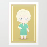 Girls in their Golden Years - Rose Art Print