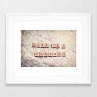 life is a journey Framed Art Print