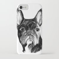 french iPhone & iPod Cases featuring French Bulldog by James Peart