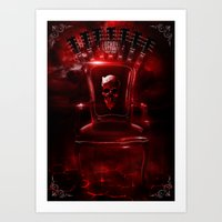 Infernal throne Art Print