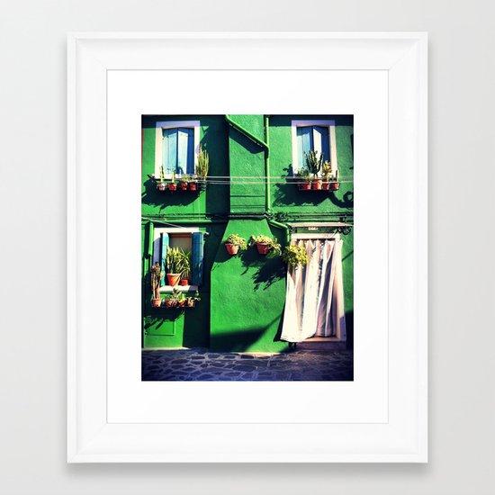 A Green life Framed Art Print