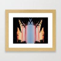 REVERSED SUMMER SHADOWS Framed Art Print