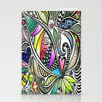 Zentangle Flowering Colo… Stationery Cards