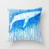Solitude Whale Throw Pillow