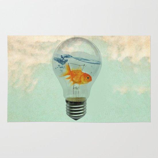 goldfish thinking Area & Throw Rug