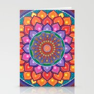 Stationery Cards featuring Lotus Rainbow Mandala by Elspeth McLean