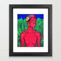 Self Portrait As A Beaut… Framed Art Print