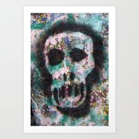 VAMPIRE SKULL2 Art Print