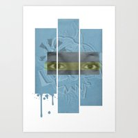 Fragmented Art Print