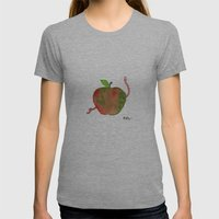Apple Womens Fitted Tee Athletic Grey SMALL