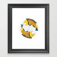 Swimming Circle Framed Art Print