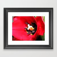 Tulip Heart Framed Art Print