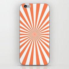 Starburst (Coral/White) iPhone & iPod Skin