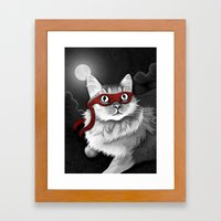 Mr. Meowgi Framed Art Print