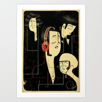 乐 Music Lovers Art Print