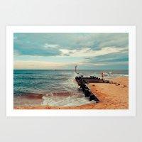 Jersey Fisherman Art Print