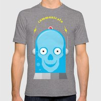 Communicate Mens Fitted Tee Tri-Grey SMALL