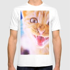 Angry cat White SMALL Mens Fitted Tee