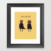 Mr & Mrs Sith Framed Art Print