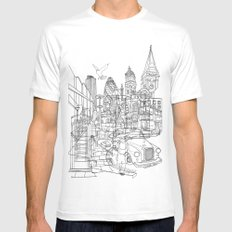 London! Mens Fitted Tee White SMALL