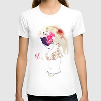 Madame Butterfly Womens Fitted Tee White SMALL
