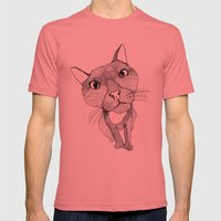 BigHead Cat Mens Fitted Tee Pomegranate SMALL
