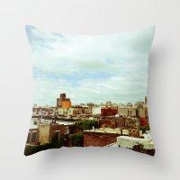 Harlem Skyline Throw Pillow