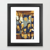 The Fellowship of the Ring Framed Art Print